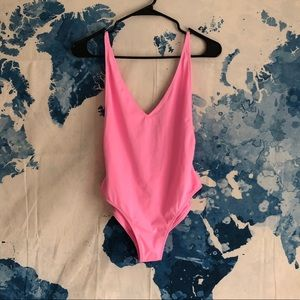 Topshop bright pink one-piece swimsuit